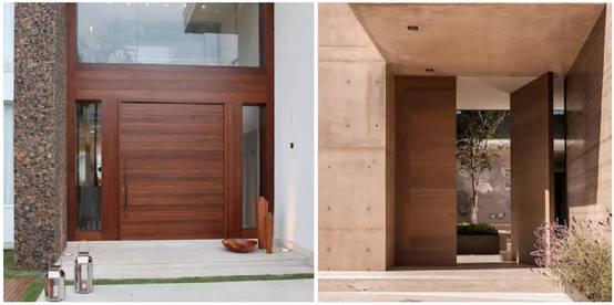 15 puertas principales fant sticas for Puertas principales de madera modernas