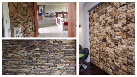 12 modi spettacolari di usare la pietra per le pareti interne - Pietra parete interna ...