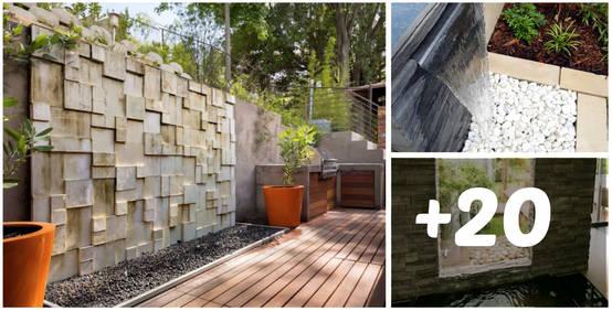 20 fuentes y muros llorones para tu jard n sensacionales for Jardines de pared para interiores