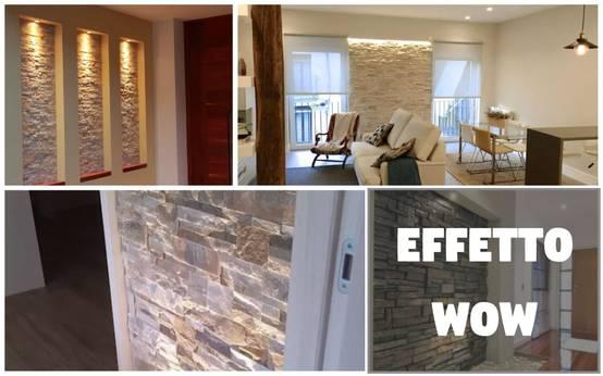 A caccia di idee 36 spettacolari pareti in pietra e con - Muri finti per interni ...
