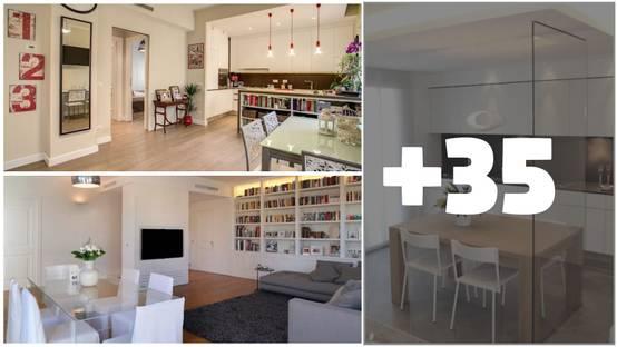 Cucina E Salotto Insieme.37 Idee Su Come Dividere Sala Da Pranzo Soggiorno E Cucina