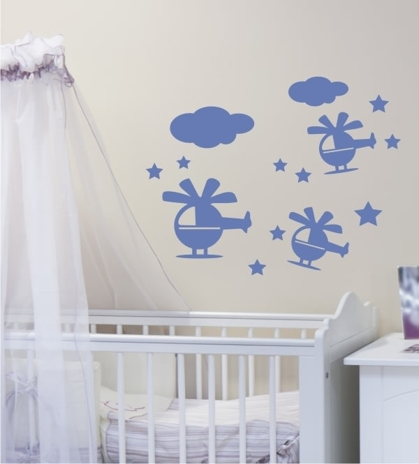 klassische kinderzimmer bilder hubschrauber als wandtattoo homify. Black Bedroom Furniture Sets. Home Design Ideas