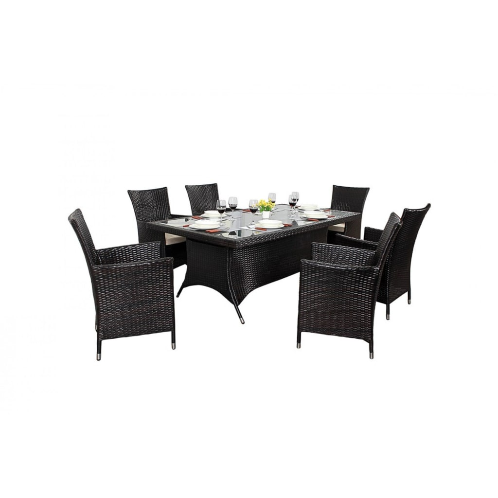 Interior design ideas architecture and renovating photos  : Bonsoni Rectangle Dining Set 6 Piece Includes a Large Glassed Top Rectangular Table Eight Chairs and a Parasol Rattan Garden Furniture 32 from www.homify.com size 1024 x 1024 jpeg 52kB