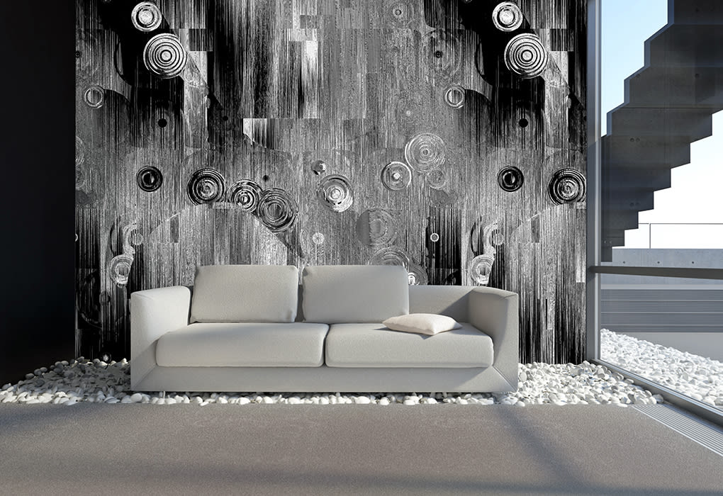 kreisschwebe grau schwarz kunst von mowade homify. Black Bedroom Furniture Sets. Home Design Ideas