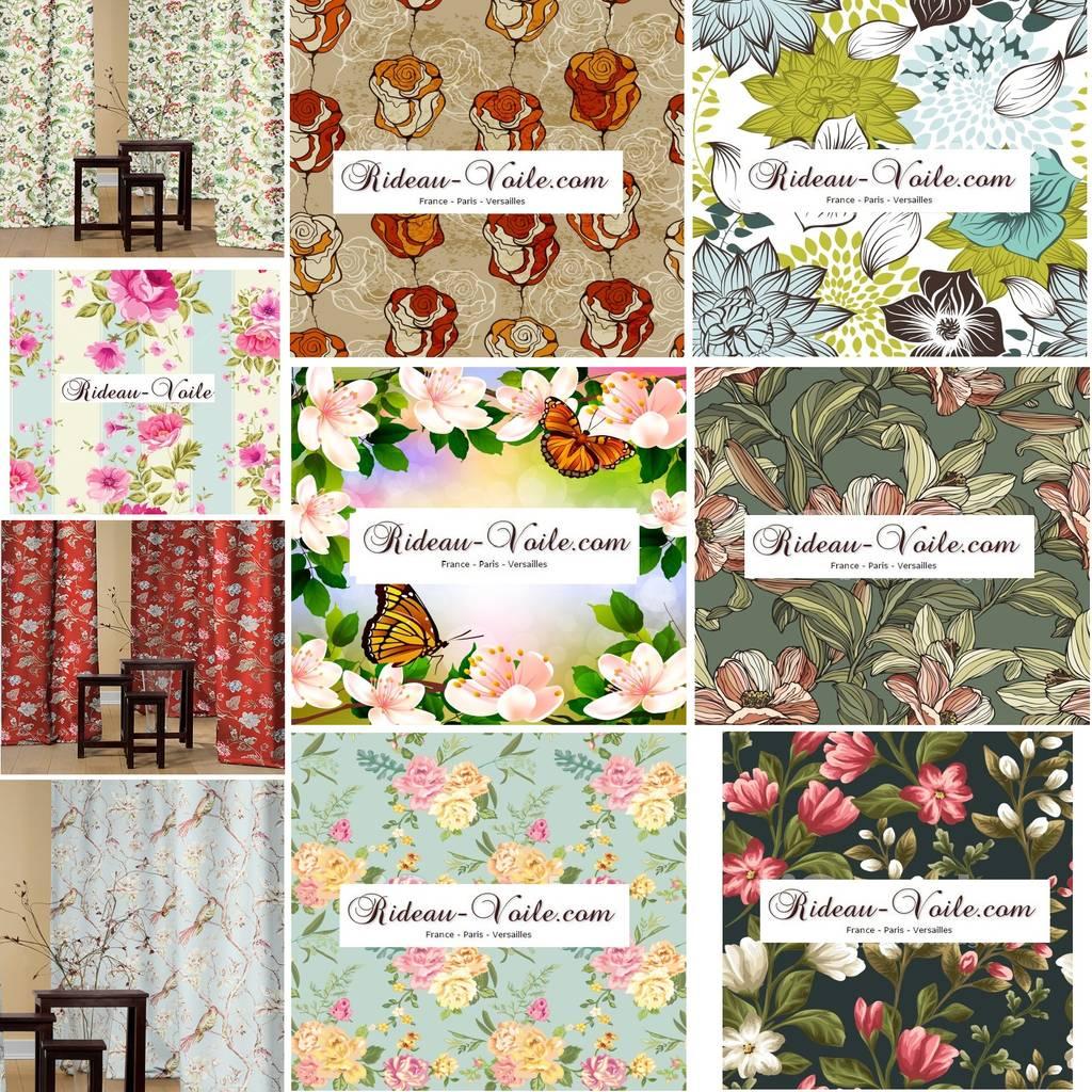Photos de fen tres portes de style de style classique romance florale - Tissus fleuris anglais ...