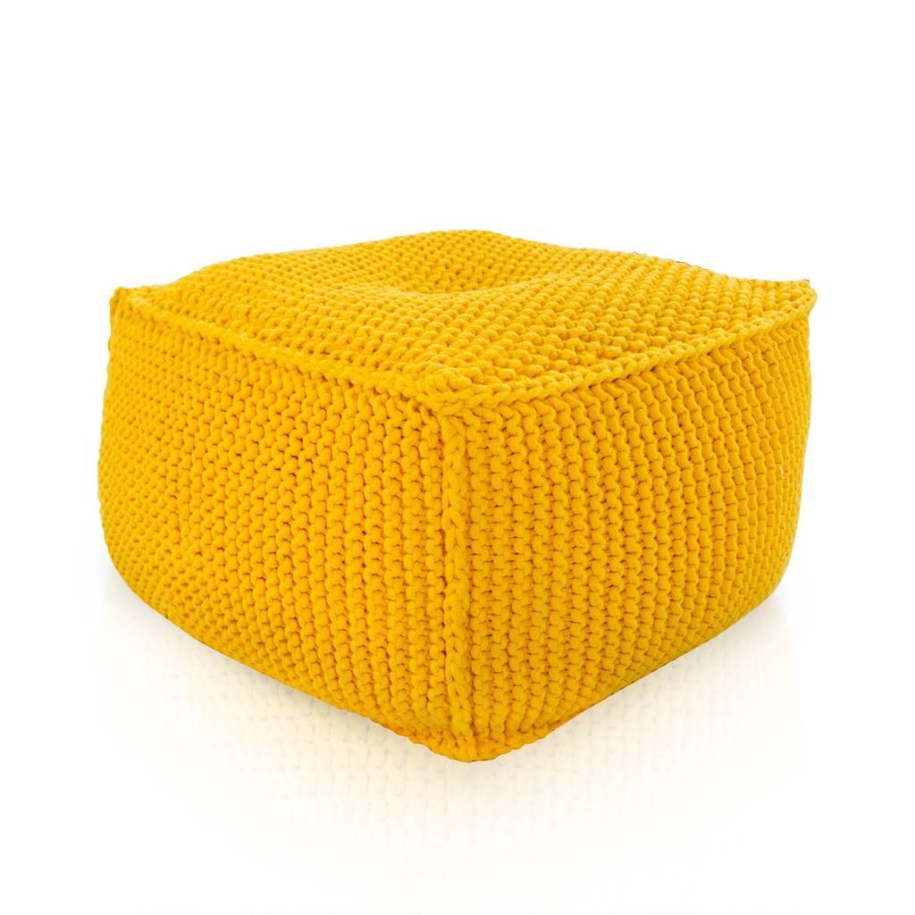 Pouf In Cotone Effetto Maglia pouf in maglia – seduta – poggiapiedi – tavolino di italpouf