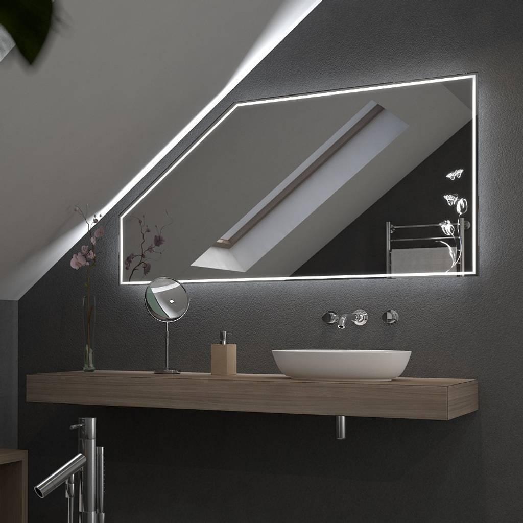 moderne badezimmer bilder spiegel 39 tulipa 39 f r dachschr ge mit led homify. Black Bedroom Furniture Sets. Home Design Ideas