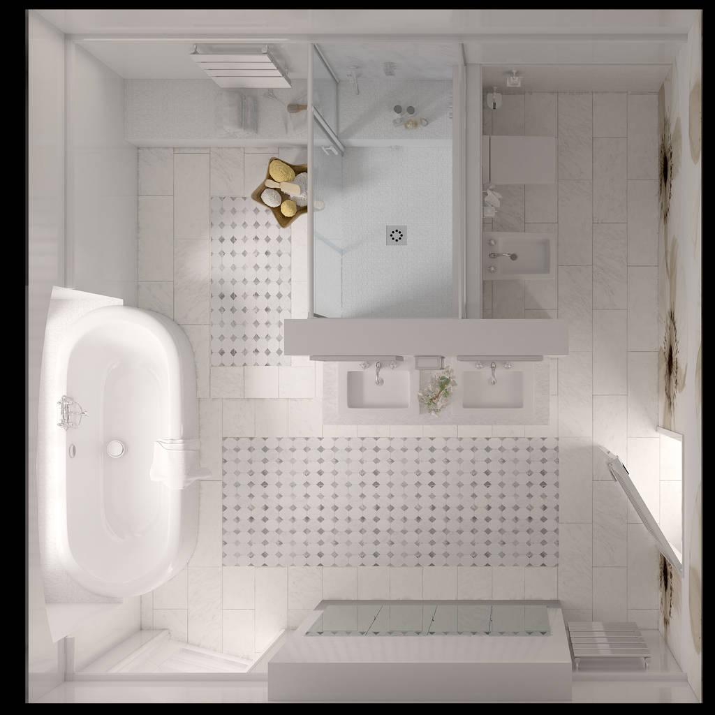 photos de salle de bain de style de style classique vue en plan g n rale de la salle de bains. Black Bedroom Furniture Sets. Home Design Ideas
