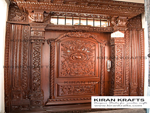 10 Beautiful Door Designs For Traditional Indian Welcome Homify
