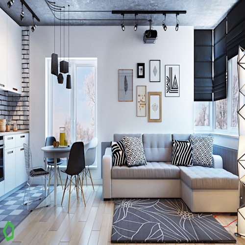 Interior Apartemen dengan Pencahayaan Unik