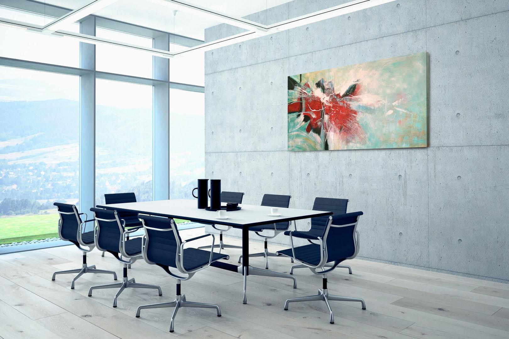 Kl00110 blau rot gruene farbverlaeufe modern abstrakt acryl gemaelde 07