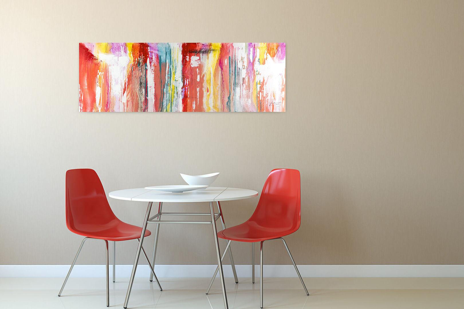 Kl00067 vertikal laufende bunte farbverlaeufe modern acryl gemaelde 08