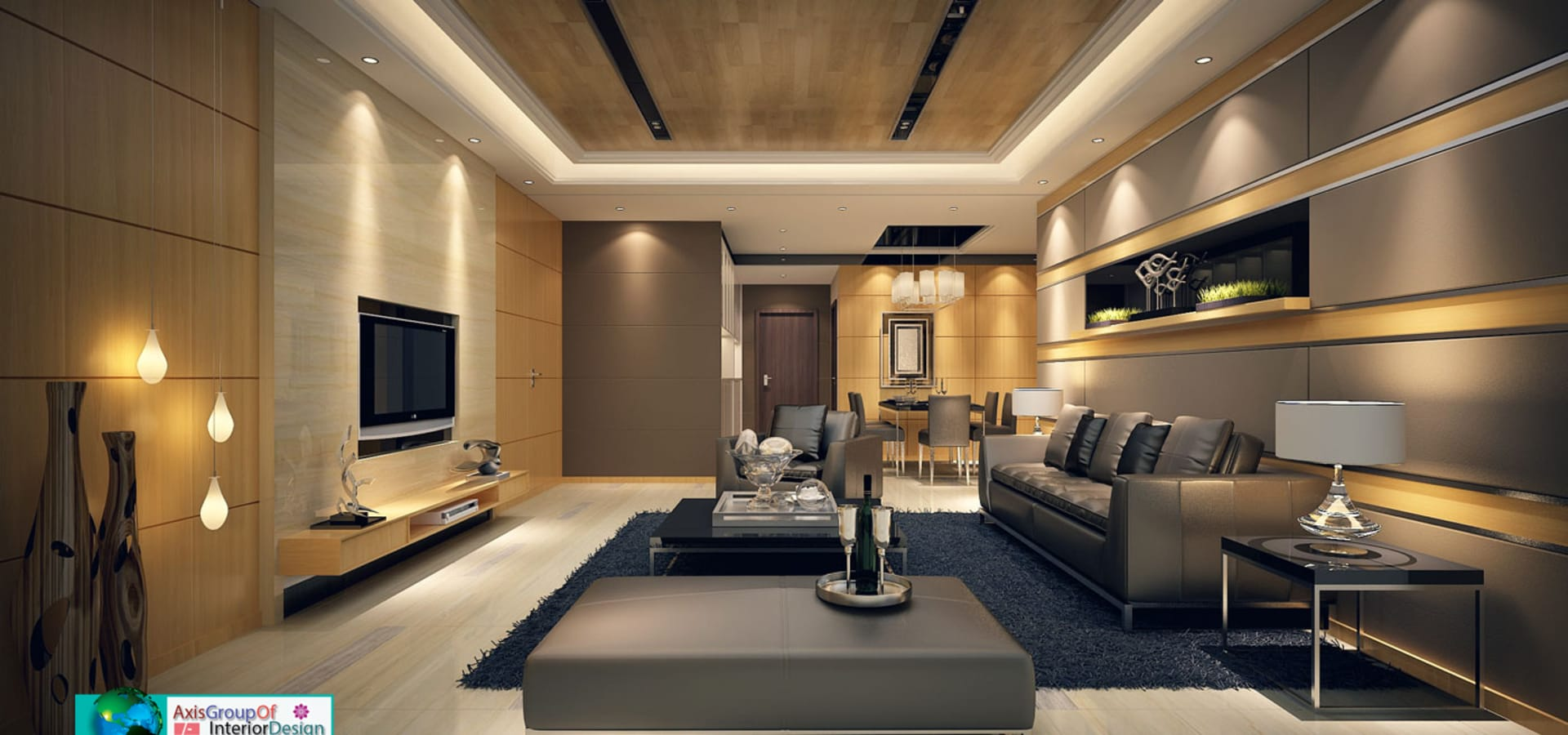 Showroom interior design by Axis Group Of Interior Design homify