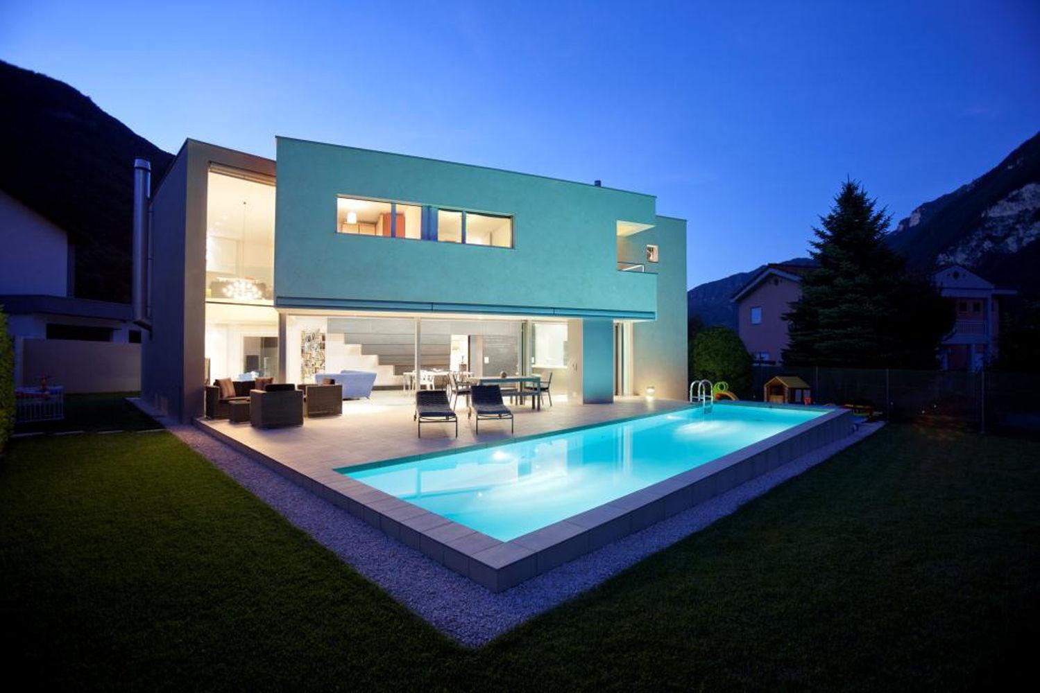 Case Moderne Con Piscina : Immagini ville moderne con piscina villa con piscina paros grecia