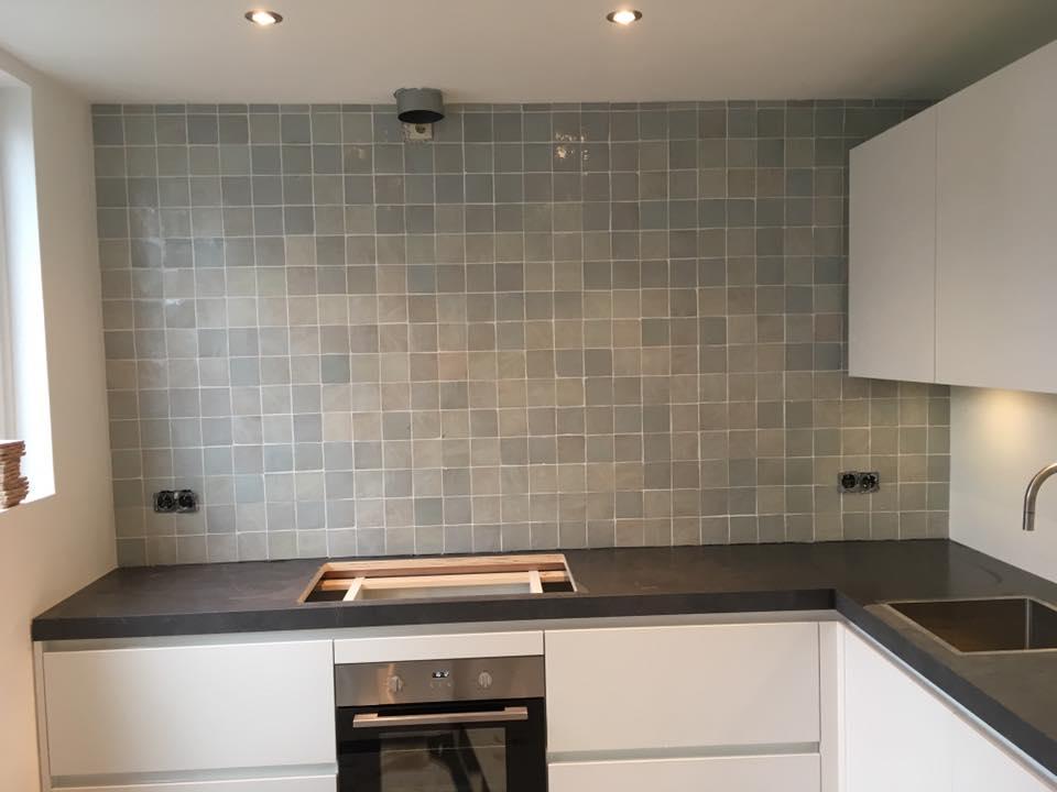 Keuken tegels grijs np belbin