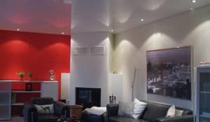 Wohnzimmer Rote Wand Von Mettner Raumdesign Homify