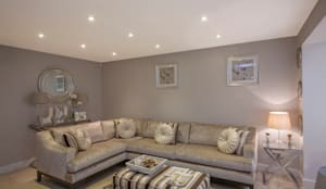 Living room - Canary Wharf: modern Living room by Millennium Interior Designers