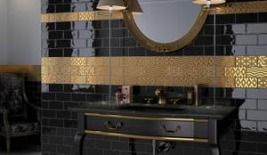 rustic Bathroom by Equipe Ceramicas