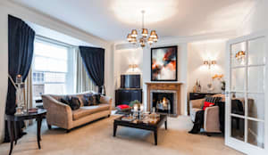 Mayfair Private Residence: classic Living room by FADI CHERRY | design studio
