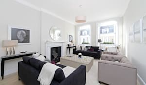 City appartment: modern Living room by Hampstead Design Hub