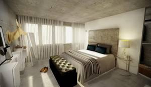 Open Space: Quartos industriais por Santiago | Interior Design Studio