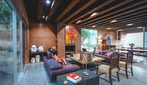 Projekty,  Salon zaprojektowane przez P+0 Arquitectura