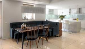HANDE KOKSAL INTERIORS – House E - E Evi: modern tarz Yemek Odası