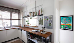 HANDE KOKSAL INTERIORS – House S - S Evi: endüstriyel tarz tarz Mutfak
