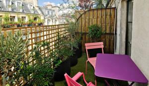 Terrasse végétalisée: Terrasse de style  par Marion Rocher