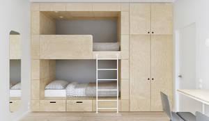 Recámaras infantiles de estilo minimalista por INT2architecture