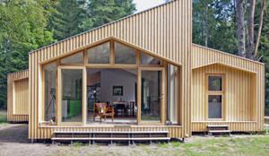 Projekty,  Dom z drewna zaprojektowane przez Facit Homes