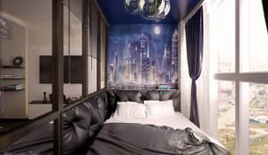 ห้องนอน by Студия интерьерного дизайна Дарьи Шамардиной и Александра Зуева