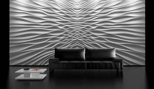 """Modell """" Illusion"""" :  Wohnzimmer von Loft Design System Deutschland - Wandpaneele aus Bayern"""