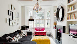 Queens Park House: eclectic Living room by Honeybee Interiors