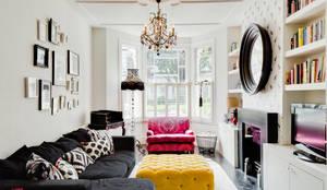 Salas / recibidores de estilo ecléctico por Honeybee Interiors