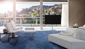 minimalistic Living room by bernd gruber kitzbühel