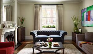 Reflected Glory - Holland Park Renovation: classic Living room by Tyler Mandic Ltd