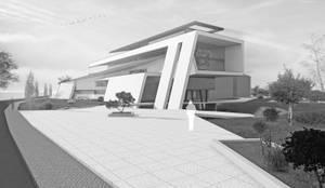 Pultdach modern interpretiert in dynamischer architektur von flow architektur homify - Flow architektur ...