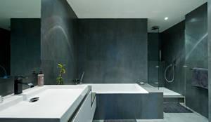 salle de bain idealbagni en ardoise et blanc cr par larchitecte dintrieur sverine kalensky