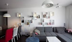 Wnętrze FOLK : styl , w kategorii Salon zaprojektowany przez KLIFF DESIGN,