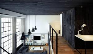 ofdesign Oskar Firek Loft Apartment antresola/gabinet: styl , w kategorii Domowe biuro i gabinet zaprojektowany przez OFD architects,