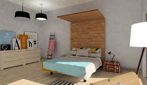 Chambre de style de style Scandinave par A|H Decoración e interiorismo
