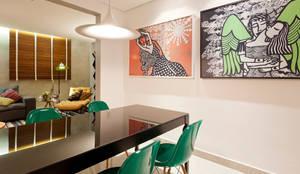 RESIDÊNCIA HANRIOT: Salas de jantar  por Isabela Bethônico Arquitetura