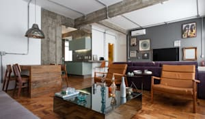 Manoel Guedes: Salas de estar industriais por PM Arquitetura