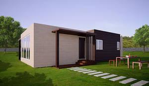Casas cube casa prefabricada de 75 m2 by casas cube homify - Cube casas prefabricadas ...