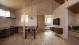 近江八幡の家・ダイニングキッチン: タクタク/クニヤス建築設計が手掛けたリビングです。