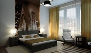 Dormitorios de estilo minimalista por Дизайн студия 'Exmod' Павел Цунев