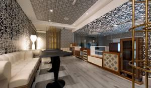Sorveteria de Luxo Gelato Boutique : Corredores e halls de entrada  por STUDIO CAMILA VALENTINI
