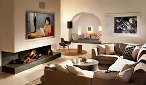mediterranean Living room by TG Studio