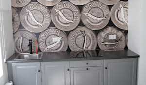 k che mit caviar tapete in der neuen farbe faded von time to gohome homify. Black Bedroom Furniture Sets. Home Design Ideas